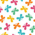 Seamless butterflies pattern Royalty Free Stock Image