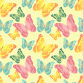 Seamless butterflies pattern Royalty Free Stock Photography