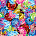 Seamless Butterfly background Stock Photo
