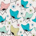 Seamless Butterfly Chair Pattern Royalty Free Stock Photo