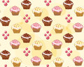 Seamless with cake vector illustration Royalty Free Stock Images
