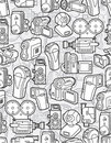 Seamless camera pattern Royalty Free Stock Image
