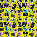 Seamless camera pattern Royalty Free Stock Photography