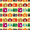 Seamless camera pattern Stock Photography