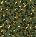 Seamless camouflage in Green and Brown khaki pattern. Polygonal mosaic series for your design. Vector