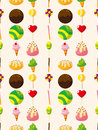 Seamless candy pattern Stock Images