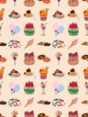 Seamless candy pattern Royalty Free Stock Photo
