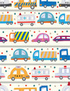 Seamless car pattern Stock Photography
