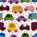 Seamless car pattern Stock Photos