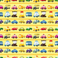 Seamless car pattern Royalty Free Stock Photo