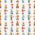 Seamless cartoon chef pattern Stock Images