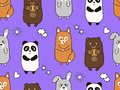 Seamless cartoon pattern for children