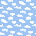 Seamless Cartoon Clouds Stock Image