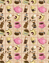Seamless cartoon coffee  pattern Royalty Free Stock Image