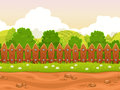Seamless cartoon country landscape Royalty Free Stock Photo