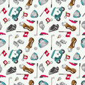 Seamless cartoon golf game pattern Royalty Free Stock Photos