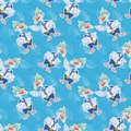 Seamless cartoon goose divers background and blue pattern with a seashells Royalty Free Stock Photos