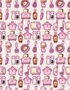 Seamless cartoon kitchen pattern Stock Photography