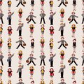 Seamless cartoon office worker pattern Royalty Free Stock Image