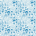 Seamless cartoon pattern Stock Photo
