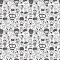 Seamless cartoon pattern Stock Photos
