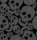 Seamless cartoon pattern with skull Royalty Free Stock Photo