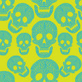 Seamless cartoon pattern with skull. Royalty Free Stock Photo