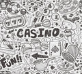 Seamless casino pattern cartoon vector illustration Stock Images
