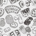 Seamless casino pattern cartoon vector illustration Royalty Free Stock Image