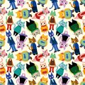 Seamless cat pattern Stock Images