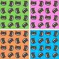 Seamless cat pattern Stock Photos