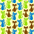 Seamless cats background Royalty Free Stock Image
