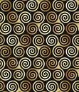 Seamless celtic spiral pattern Royalty Free Stock Photography