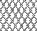 Seamless chainlink fence on white Stock Photography