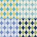 Seamless Checkered Fabric Patt...