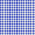Seamless checkered Gingham pattern - Blue and White Royalty Free Stock Photo