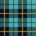 Seamless checkered pattern shades of blue and yellow vector as a tartan plaid Royalty Free Stock Photography