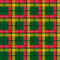 Seamless checkered vector bright pattern shades of red green and yellow as a tartan plaid Stock Photos