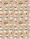 Seamless chef pattern Stock Photos