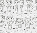 Seamless chef pattern cartoon vector illustration Stock Images