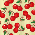 Seamless cherry Royalty Free Stock Photo