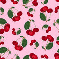 Seamless cherry pattern. Stock Photos