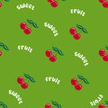 Seamless cherry pattern text Stock Photos