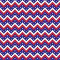 Seamless chevron American flag colored