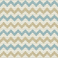 Seamless chevron pattern on linen texture Stock Photos