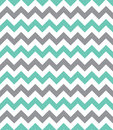 Seamless chevron pattern mint green and grey Stock Photography