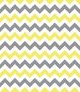 Seamless chevron pattern yellow and grey Royalty Free Stock Photo