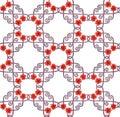 Seamless chic ornamental poppy pattern