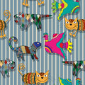 Seamless childlike drawing pattern Stock Photo