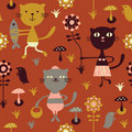 Seamless childlike pattern Royalty Free Stock Photography